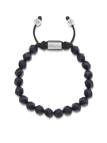 The Squared Bead Collection - Faceted Matte Onyx