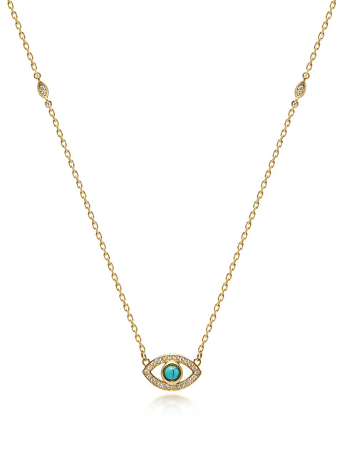 Mini Evil Eye Necklace - Nialaya Jewelry