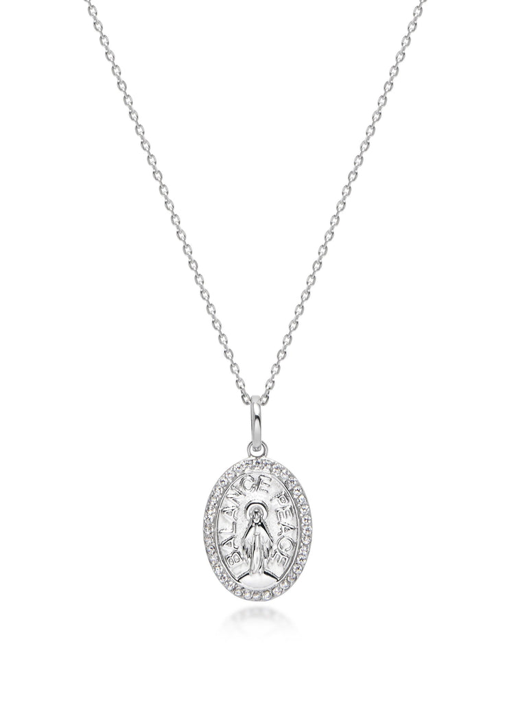Silver Jesus Necklace