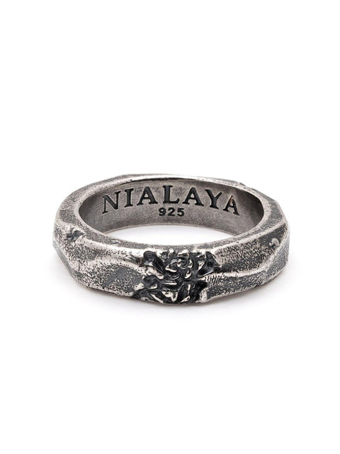 Men's Carved Vintage Silver Ring - Nialaya Jewelry