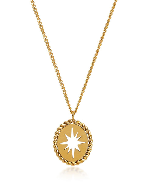Women's Gold Starburst Necklace - Nialaya Jewelry