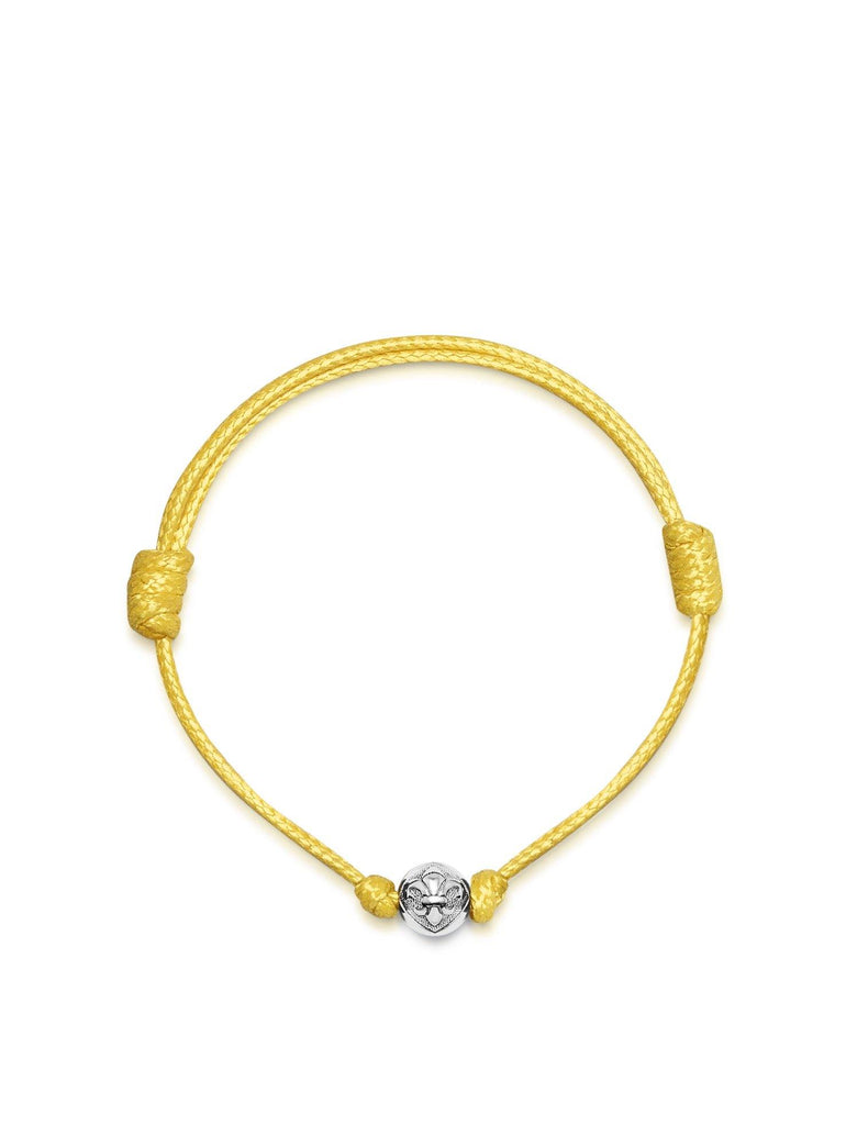 Women's Yellow String Bracelet with Silver