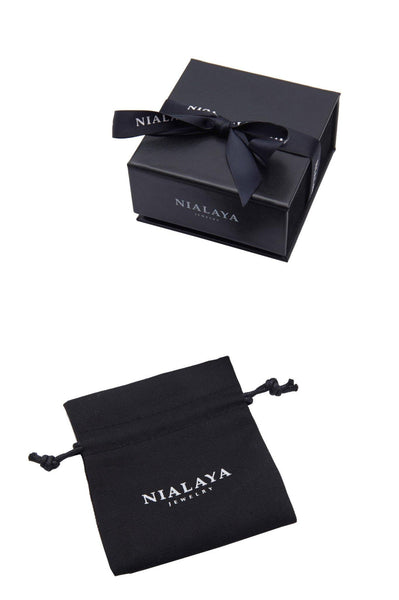 Men's Wristband With Matte Onyx - Nialaya Jewelry  - 3
