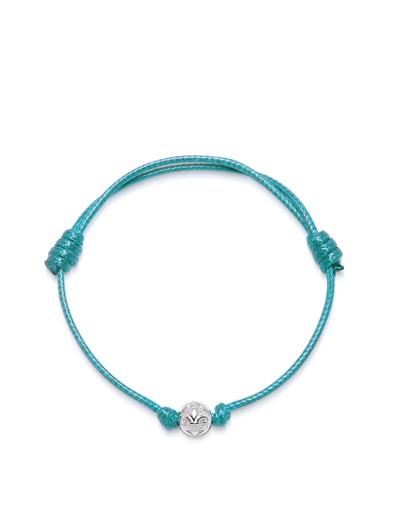 Women's Turquoise String Bracelet with Silver