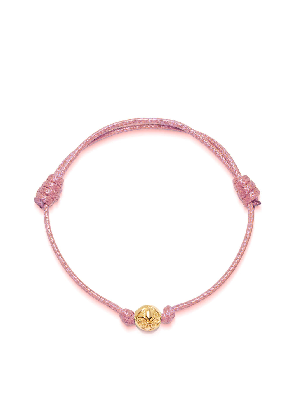 Women's Pink String Bracelet with Gold