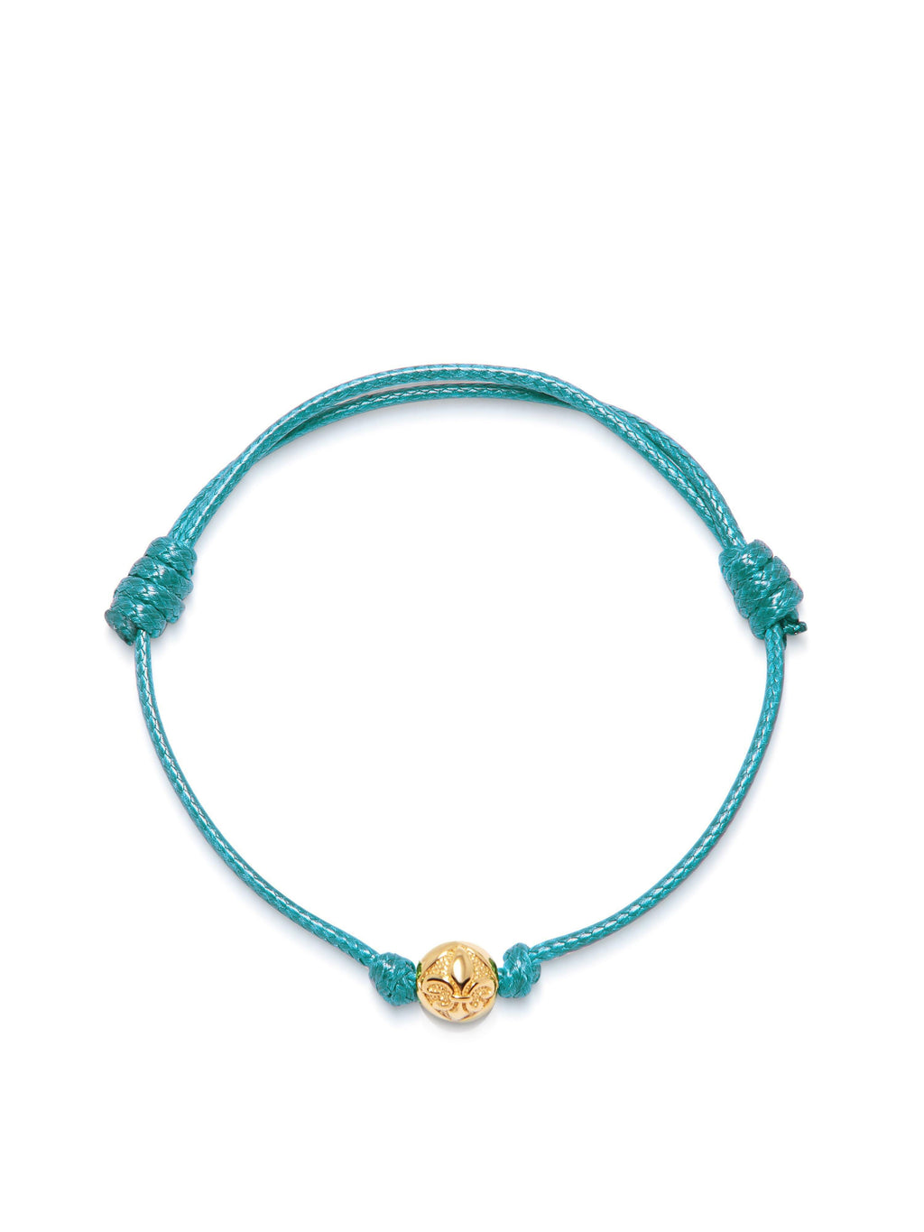 Women's Turquoise String Bracelet with Gold