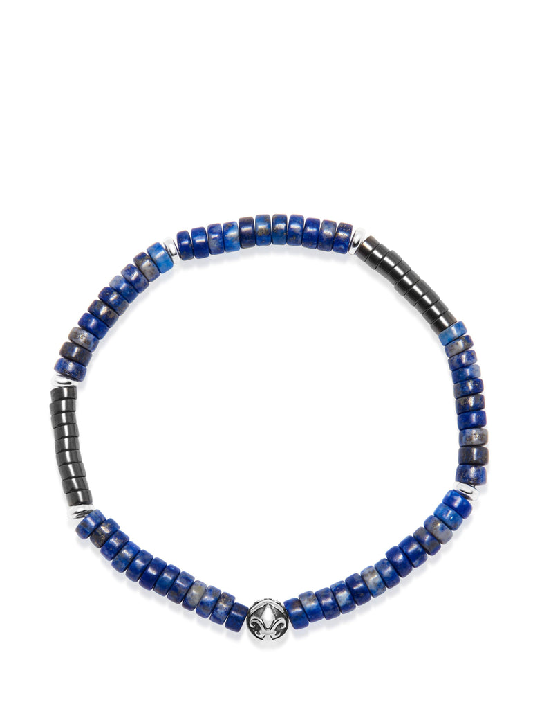 The Heishi Bead Collection - Blue, Grey and Silver