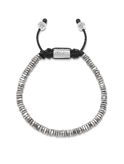 Men's Silver Disco Bead Bracelet - Nialaya Jewelry