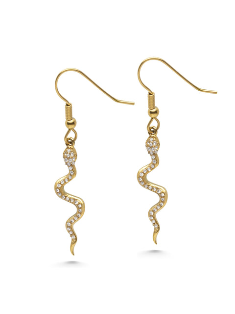 Snake Earrings - NIALAYA INC