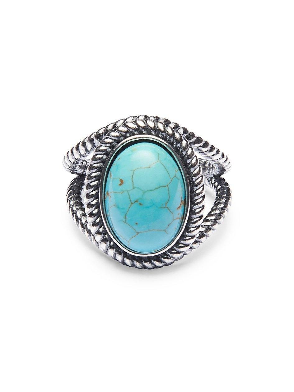 Women's Silver Ring with Turquoise Stone - Nialaya Jewelry