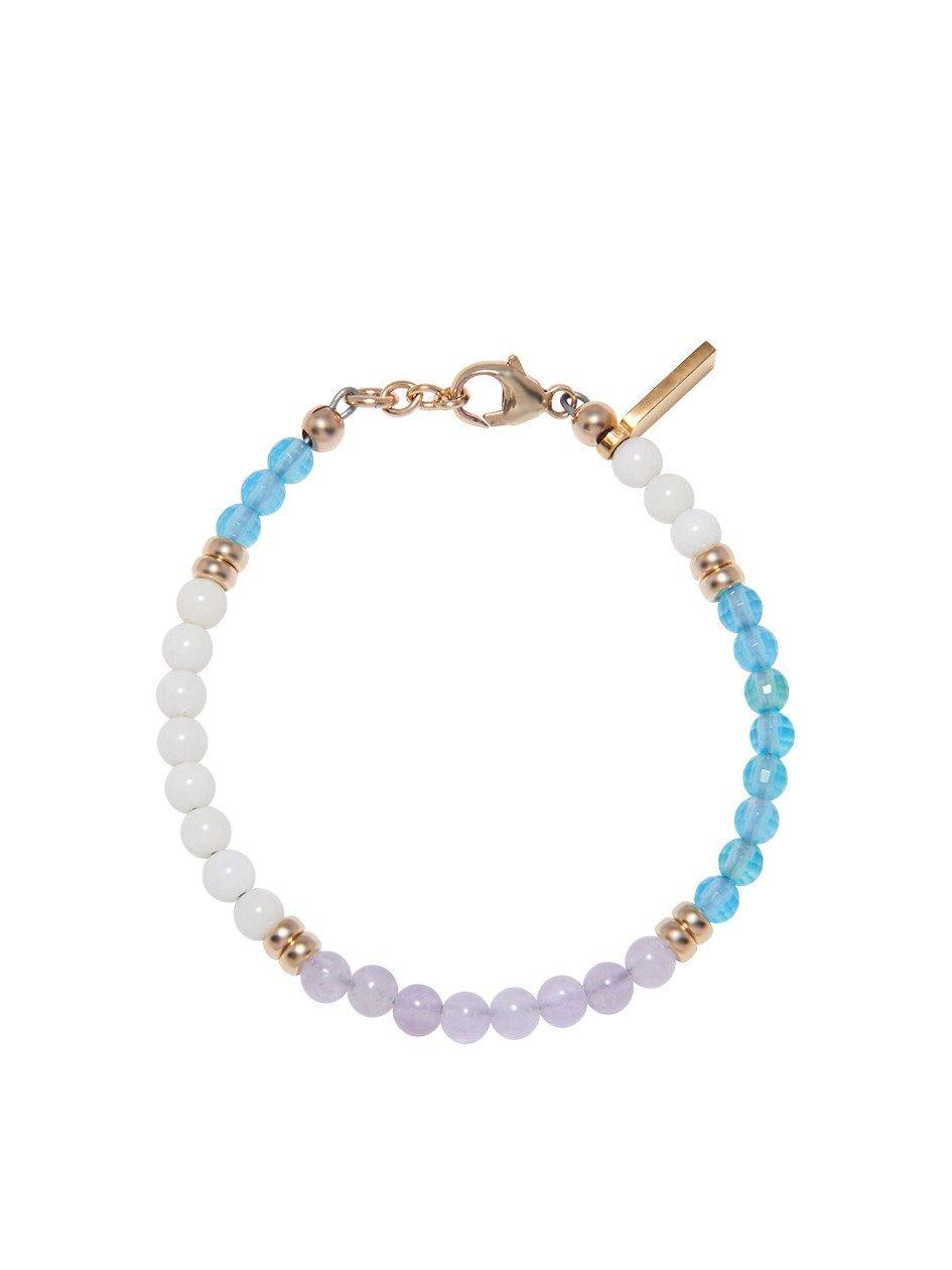 The Capri Collection -  White Coral, Amethyst Lavender, and Sea Blue Calze Pony - NIALAYA INC