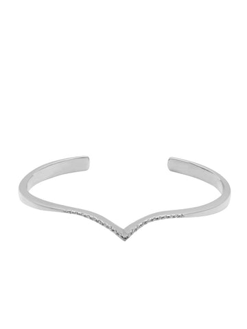 Skyfall Silver Arched Wing Cuff