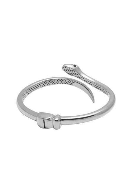 Women's Silver Snake Bangle - Nialaya Jewelry  - 3