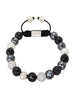 CZ Diamond, Agate, Silver Hollow & Hematite - Nialaya Jewelry  - 1
