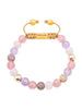Women's Beaded Bracelet with Amethyst Lavender, Rose Quartz and Cherry Quartz - Nialaya Jewelry  - 1