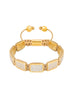Flatbead Bracelet LUX Plate Gold & White CZ Diamonds - Nialaya Jewelry  - 1