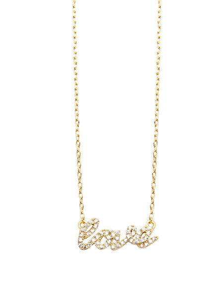 Skyfall Gold Love Necklace - Nialaya Jewelry  - 1
