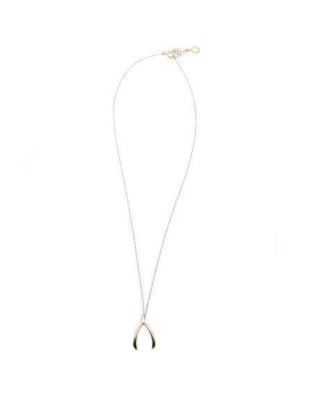 Skyfall Gold Wishbone Necklace - Nialaya Jewelry  - 3