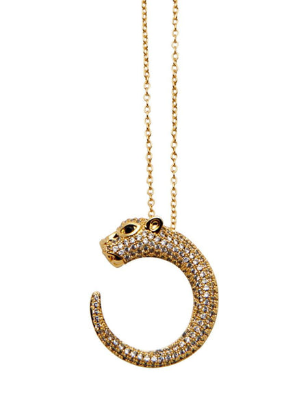 Skyfall Panther Necklace - Nialaya Jewelry  - 1