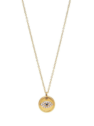 Skyfall Evil Eye Coin Necklace