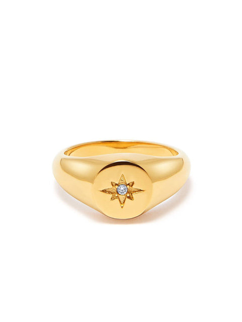 Skyfall Mini Starburst Ring in Gold