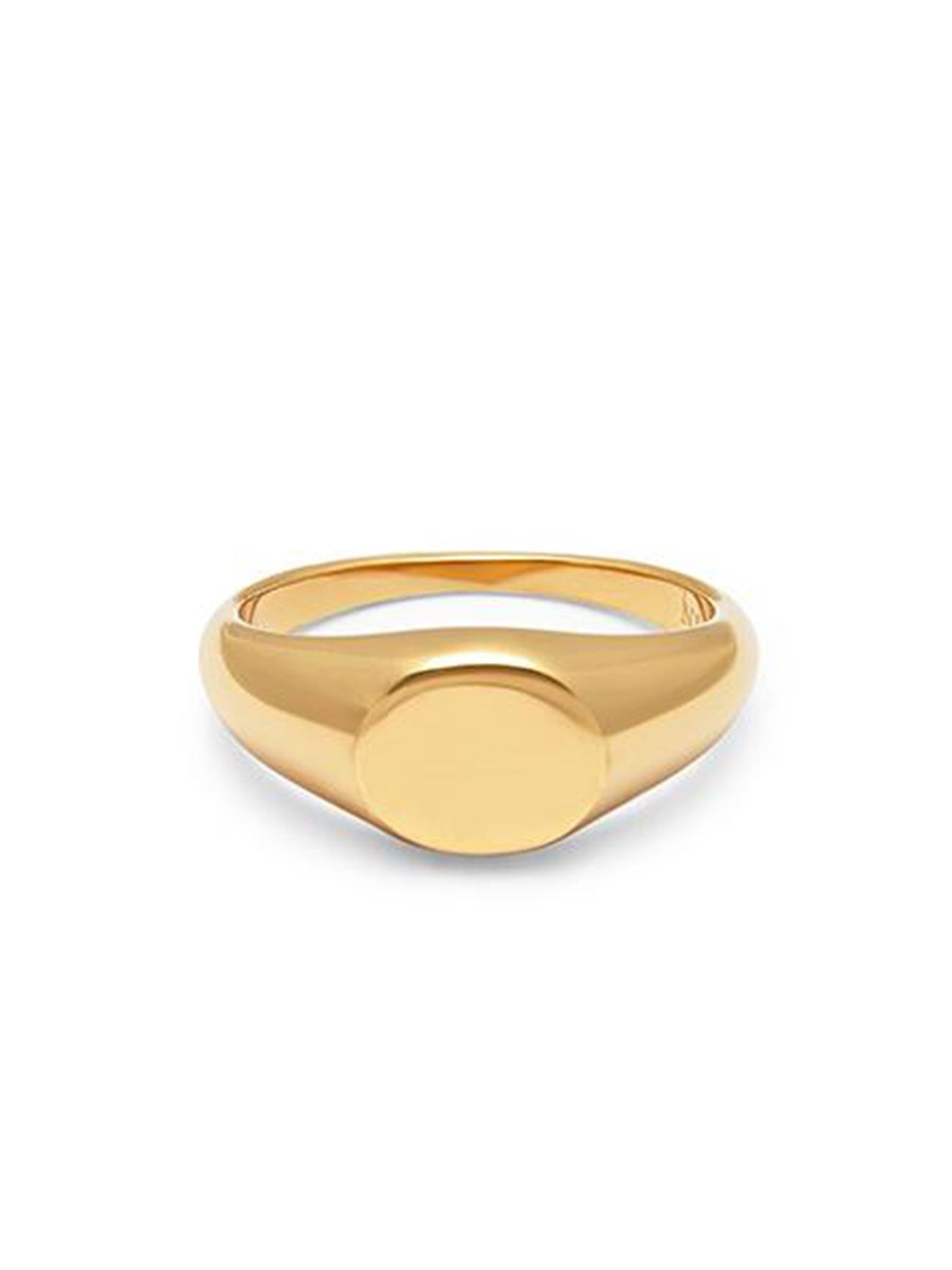 Skyfall Mini Signet Ring in Gold
