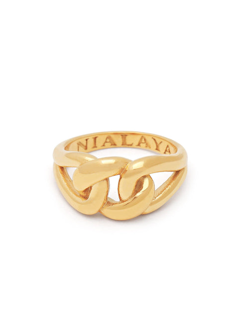 Women's Gold Knot Ring - Nialaya Jewelry