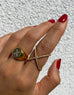 Cross Over Ring in Gold - NIALAYA INC