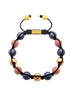 CZ Diamond Red, Matte Hematite & Gold - Nialaya Jewelry  - 1