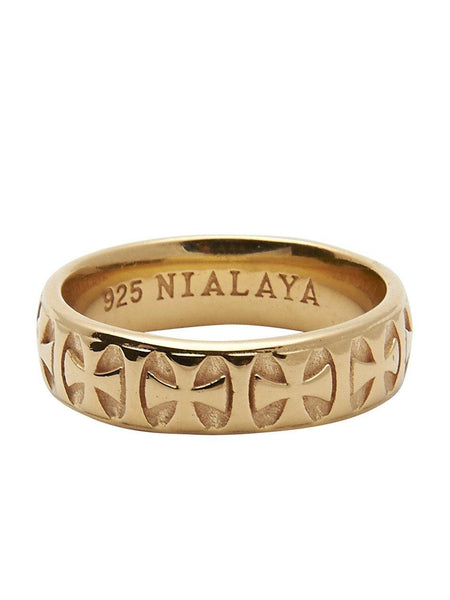 Men's Gold Iron Cross Ring - Nialaya Jewelry  - 1