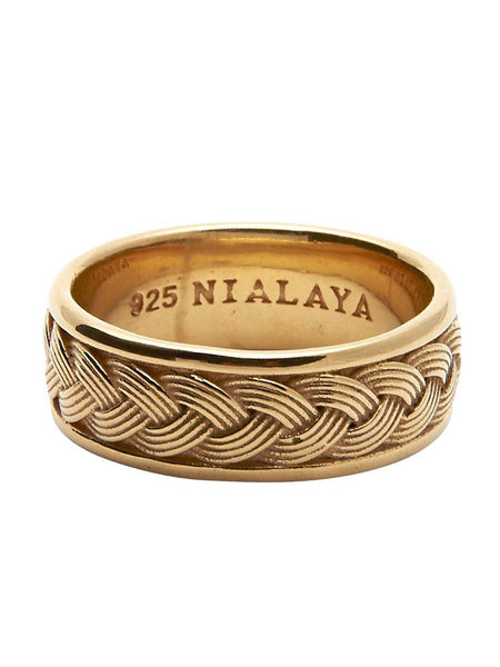 Men's Gold Cable Ring - Nialaya Jewelry  - 1