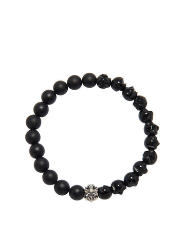 Men's Wristband with Silver Cross Bead