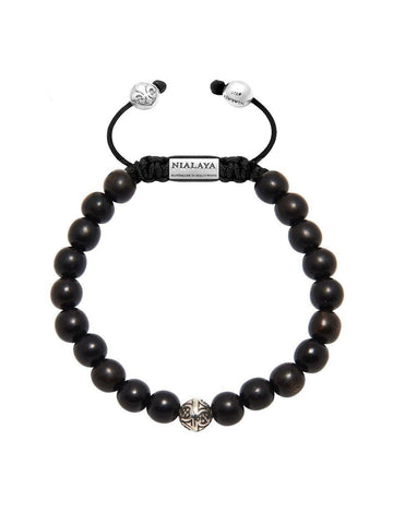 Men's Bayon Beaded Bracelet with Ebony