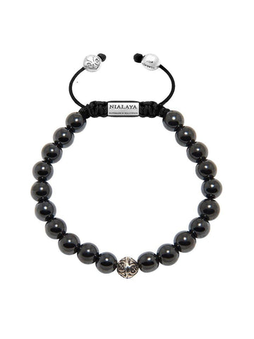 Men's Bayon Beaded Bracelet with Hematite