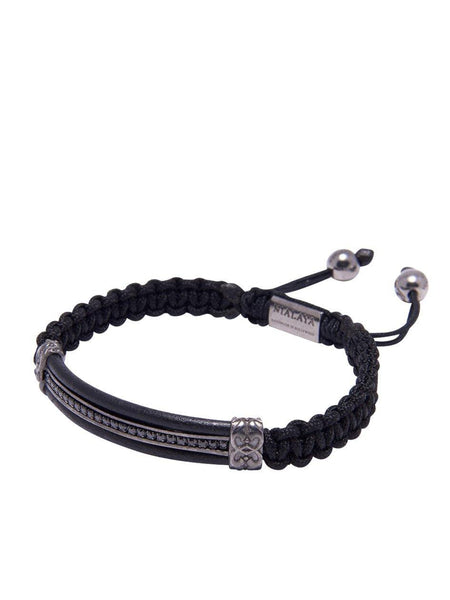 Men's Leather ID Bracelet - Nialaya Jewelry