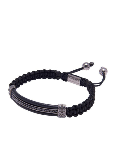 Men's Leather ID Bracelet