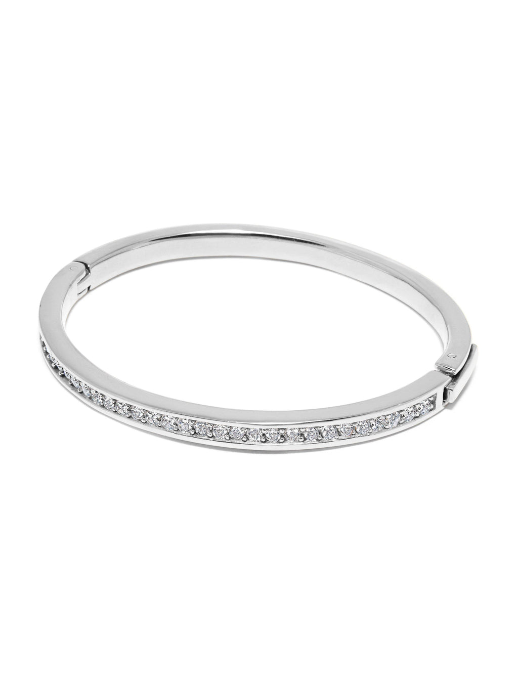 Skyfall Silver Simplicity CZ Bangle