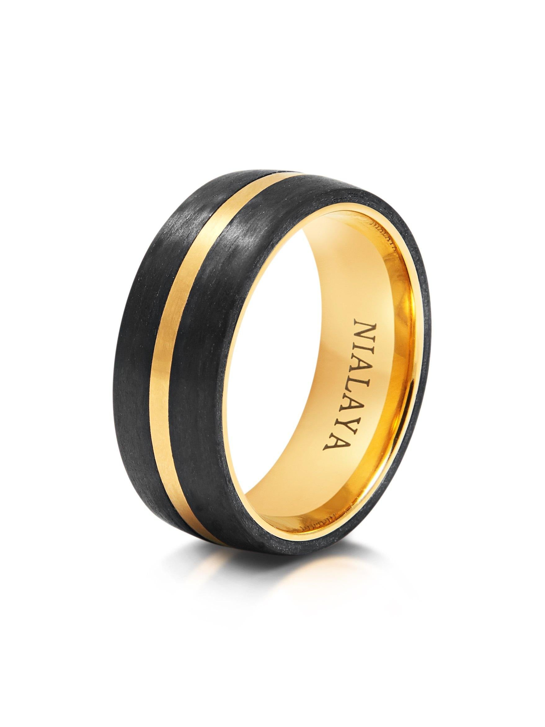 com new best ring wedding review idea and lovely with men rings fiber rikof inlay blue carbon of black cobalt s band