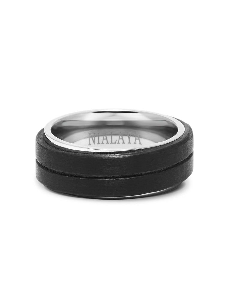 Men's Black Carbon Fiber Ring