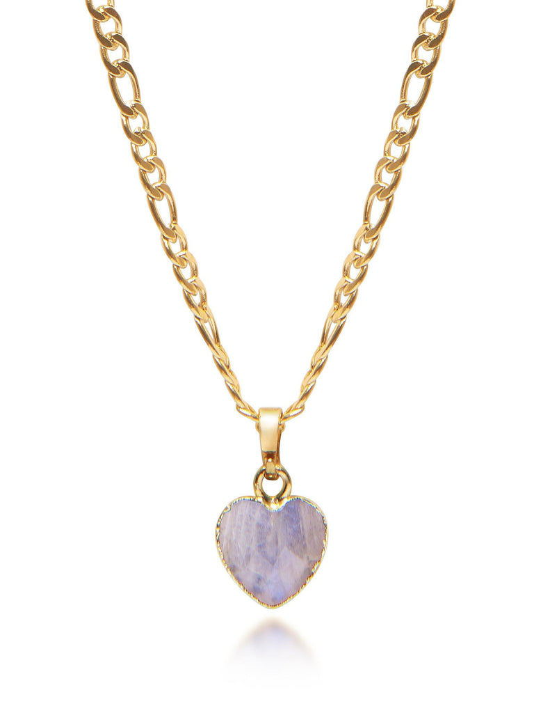 Women's Labradorite Heart Necklace