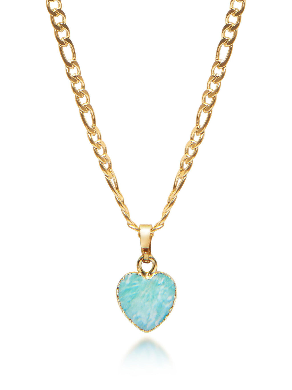 Women's Amazonite Heart Necklace
