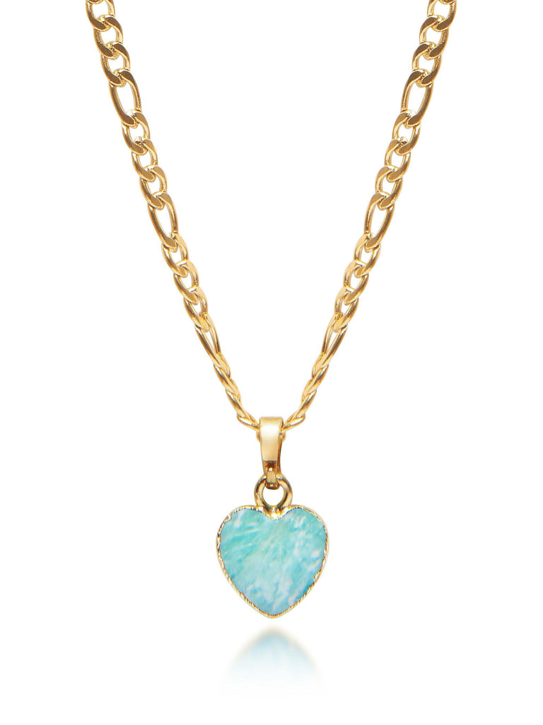PRE-ORDER: Women's Amazonite Heart Necklace