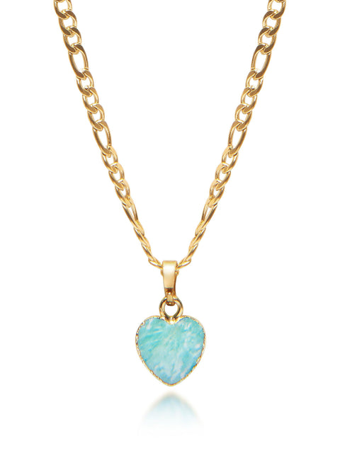 Women's Amazonite Heart Necklace - Nialaya Jewelry