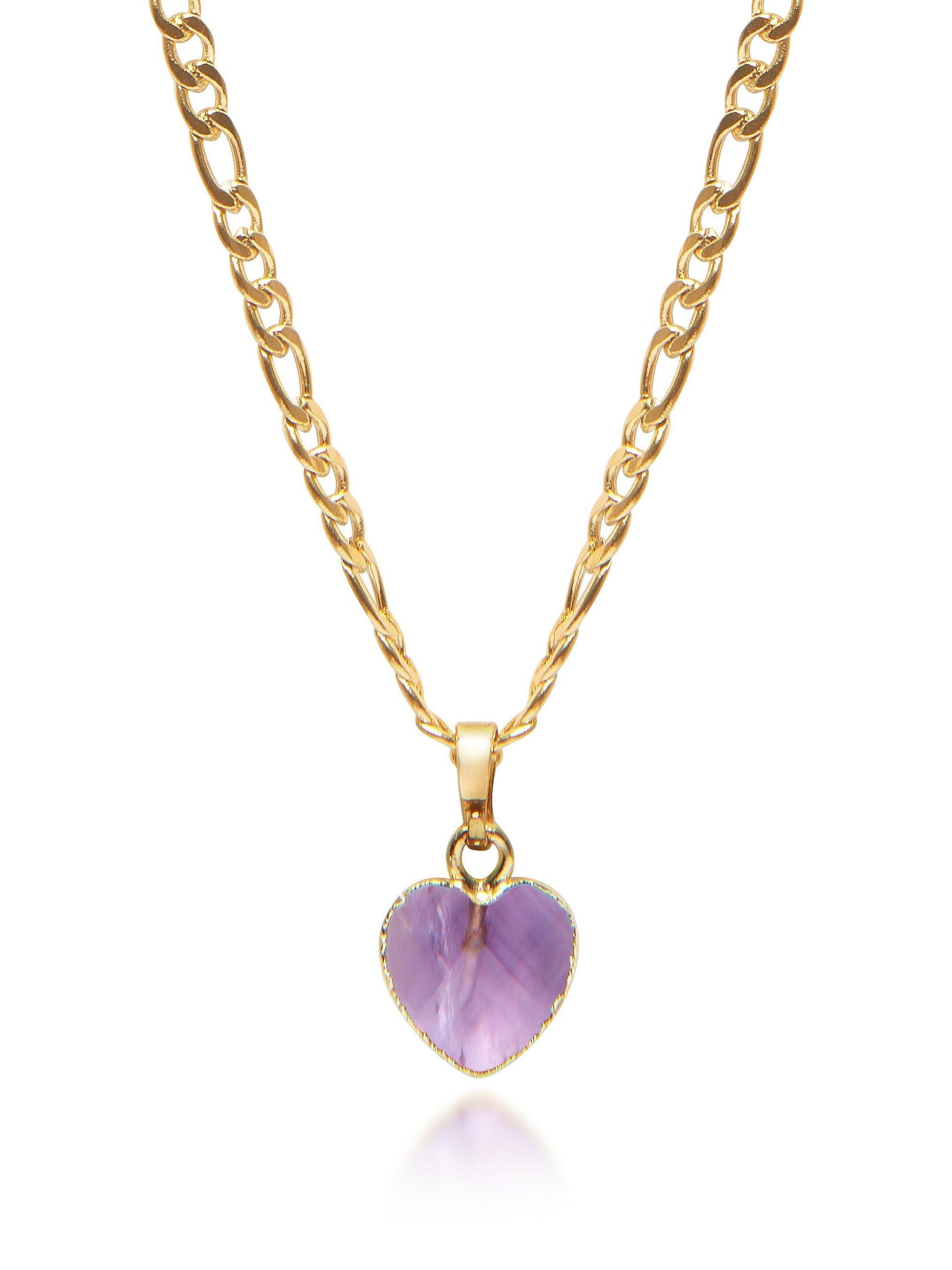Women's Amethyst Heart Necklace - Nialaya Jewelry