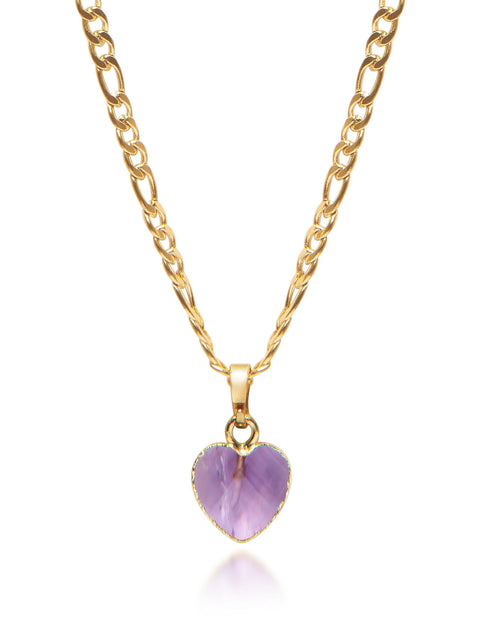 Women's Amethyst Heart Necklace