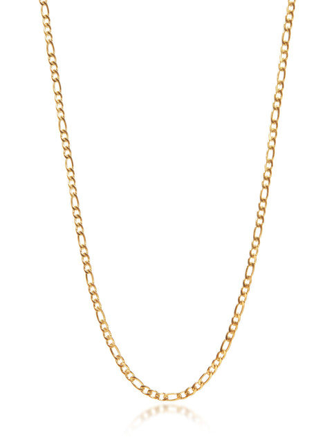 Women's Gold Figaro Chain Choker - Nialaya Jewelry