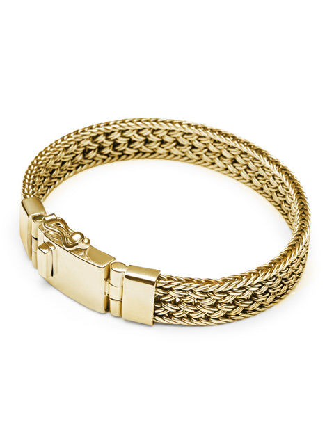 Men's Gold Braided Chain Bracelet
