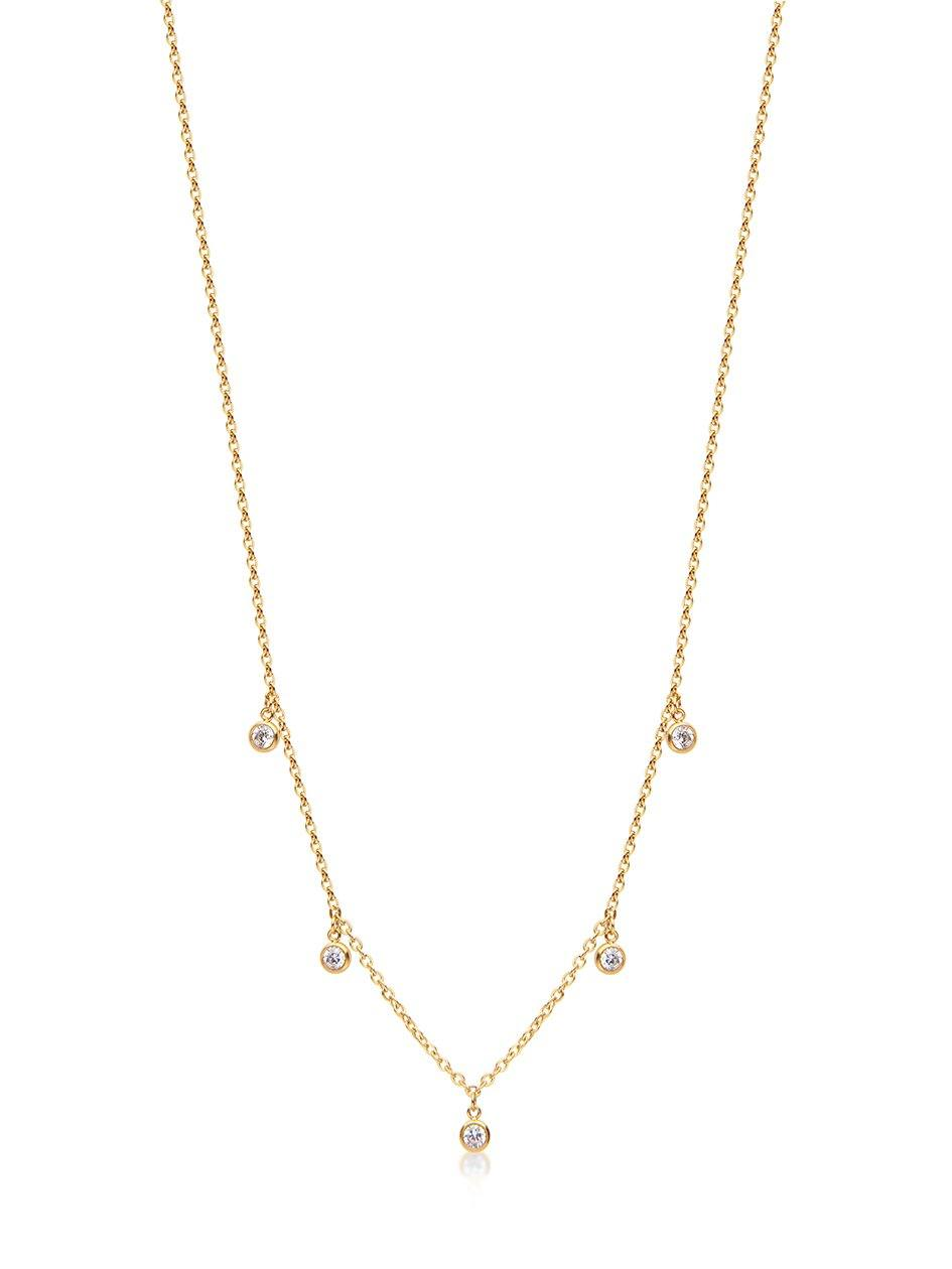Skyfall Drop Necklace Gold - Nialaya Jewelry