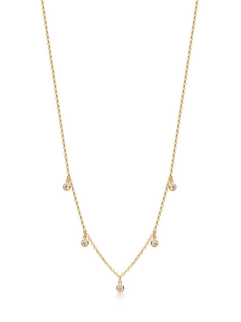 Skyfall Drop Necklace Gold
