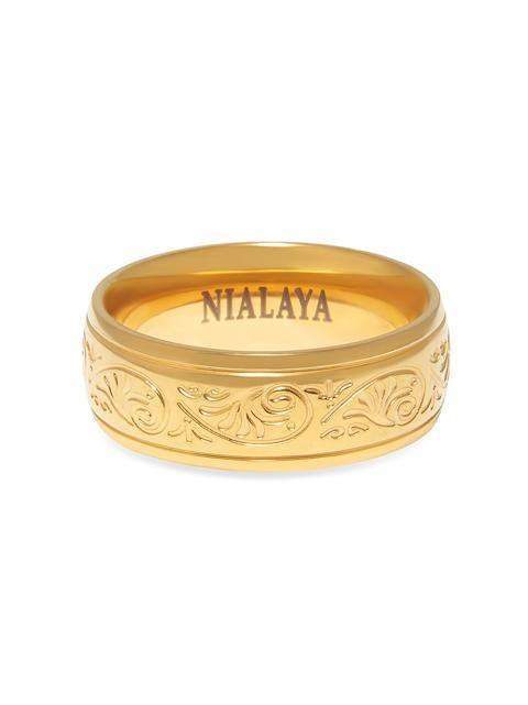 Women's Gold Engraved Band
